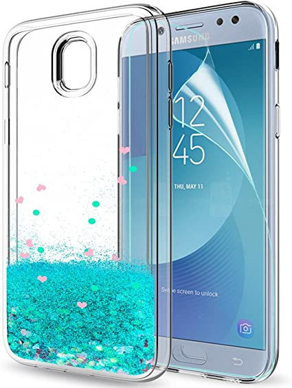 LeYi Funda Samsung Galaxy J5 2017 Silicona Purpurina Carcasa con ...