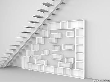 Stylische Regale design regal stylisches regal für dachschrä und treppen amazon