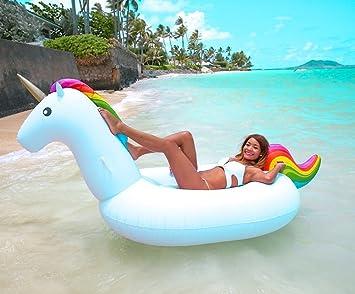 FLOTADOR INFLABLE UNICORNIO o accesorio de verano fantástico que llamará la atención de cualquier veraneante #3506: Amazon.es: Deportes y aire libre