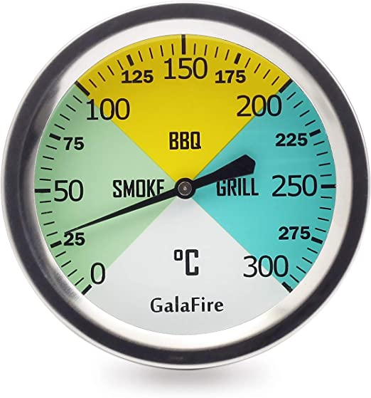 BBQ Temperature Gauge Stainless Grill Thermometer for Gas Smoker Charcoal Pit