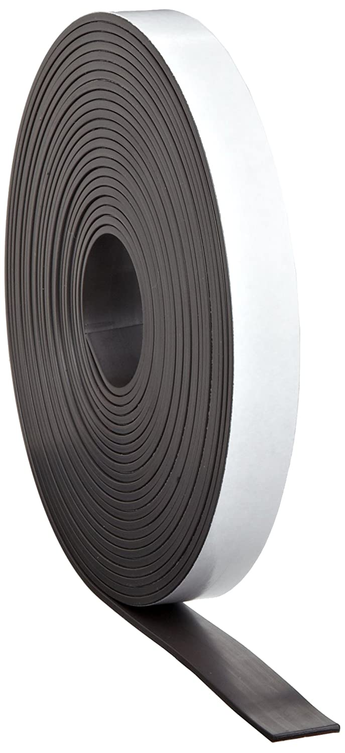 "Master Magnetics Magnet Tape, One Side Adhesive Magnetic Tape, 1/16"" Thick x 1"" Wide x 100 feet (1 roll), ZGN40APAABX"