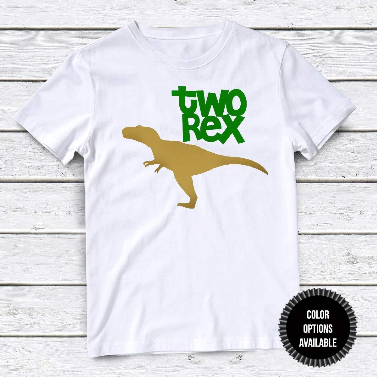 Boys Dinosaur T-Shirt 2nd Birhday Second Birthday Outfit Birthday T-Shirt