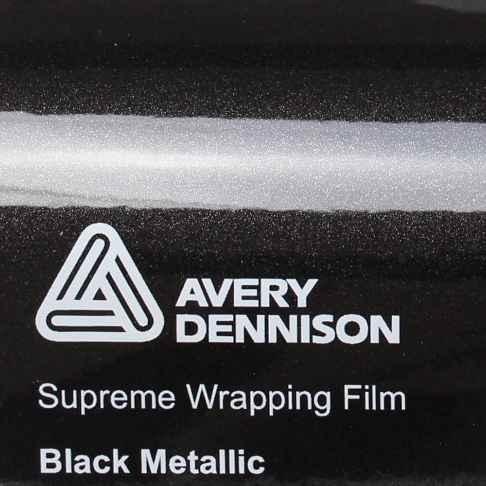 22 11 M Avery Supreme Wrapping Film Autofolie Gloss Black Metallic Gegossene Glanz Profi Folie 152cm Breit Blasenfrei Mit Luftkanäle Küche Haushalt