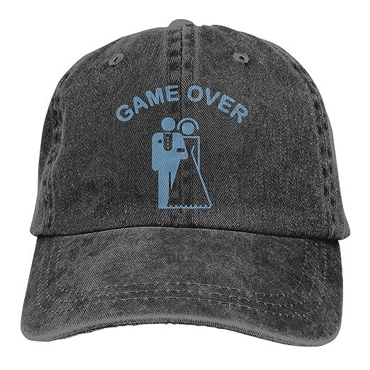 a620fd5f Unisex Adjustable Baseball Cap Game Over Bachelor Party Sun Hats Black