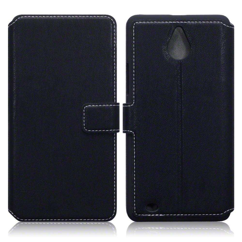 Microsoft Lumia 850 Case, Black Wallet The Keep Talking Shop? Black View Stand Flip Cover Robust Faux Leather, Microsoft 850 Case,