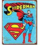Tin Sign Superman - 复古。