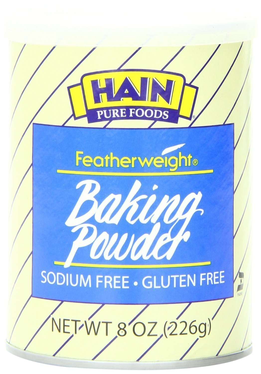 Hain Pure Foods Featherweight Baking Powder, 8 Ounce (2 Pack)