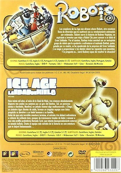 Pack Robots + Ice Age [DVD]: Amazon.es: Animación, Chris Wedge, Jerry Davis, Lori Forte: Cine y Series TV