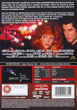 Blow Out [Reino Unido] [DVD]: Amazon.es: John Travolta: Cine y ...