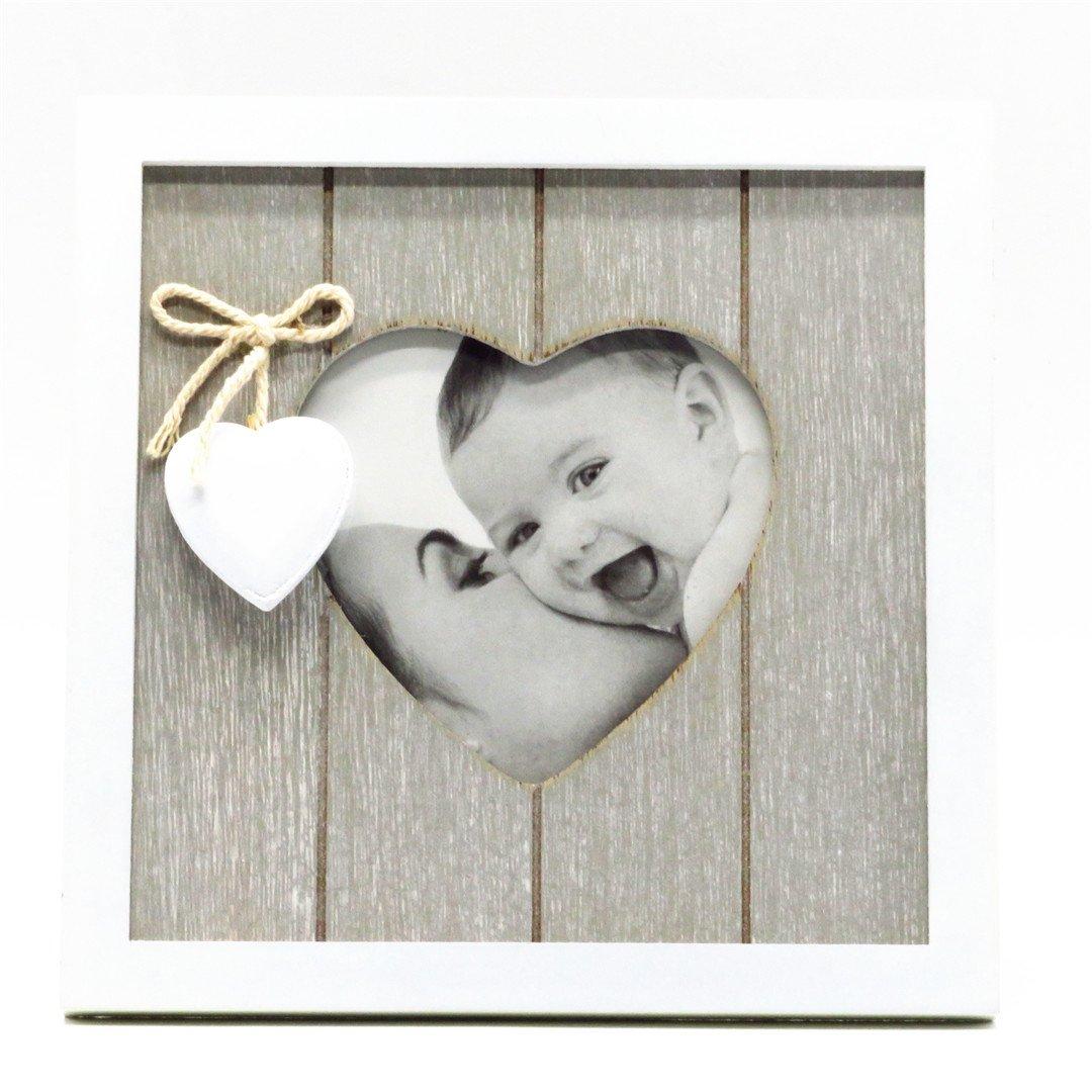 Smiling Art Vintage Bilderrahmen aus Holz in Herzform mit ...
