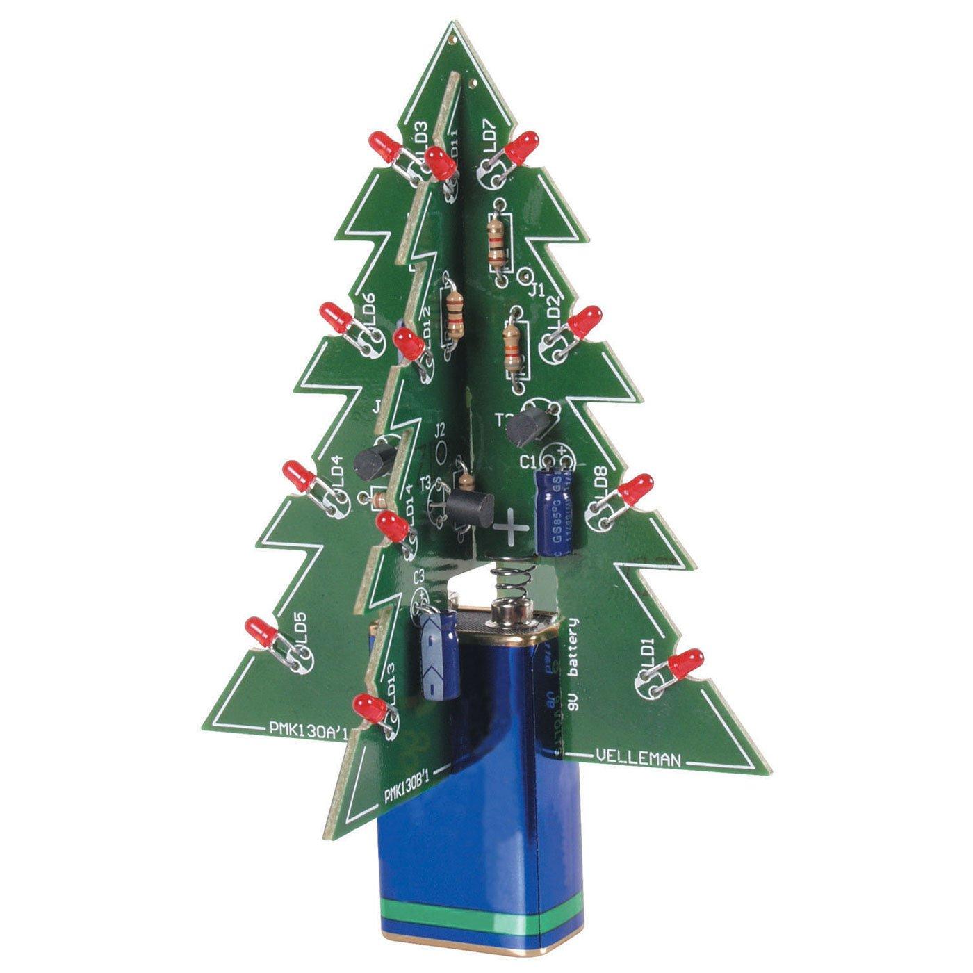 Velleman MK130 3D Xmas Tree: Electronic Christmas Tree: Amazon.com ...