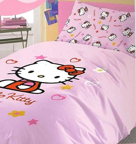 Copriletto Singolo Hello Kitty.Copriletto Cotone Singolo Hello Kitty Mis 170x260 Amazon
