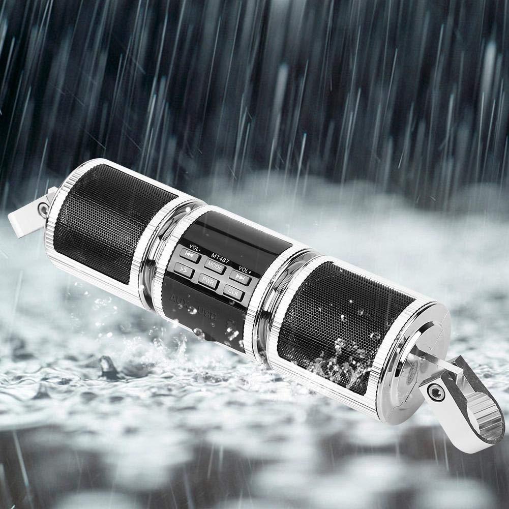 EBTOOLS Universal Motorrad Lenker Bluetooth Audio Verst/ärker Stereo Lautsprecher MP3 USB//TF Karte IP4 Wasserdicht Swarchz
