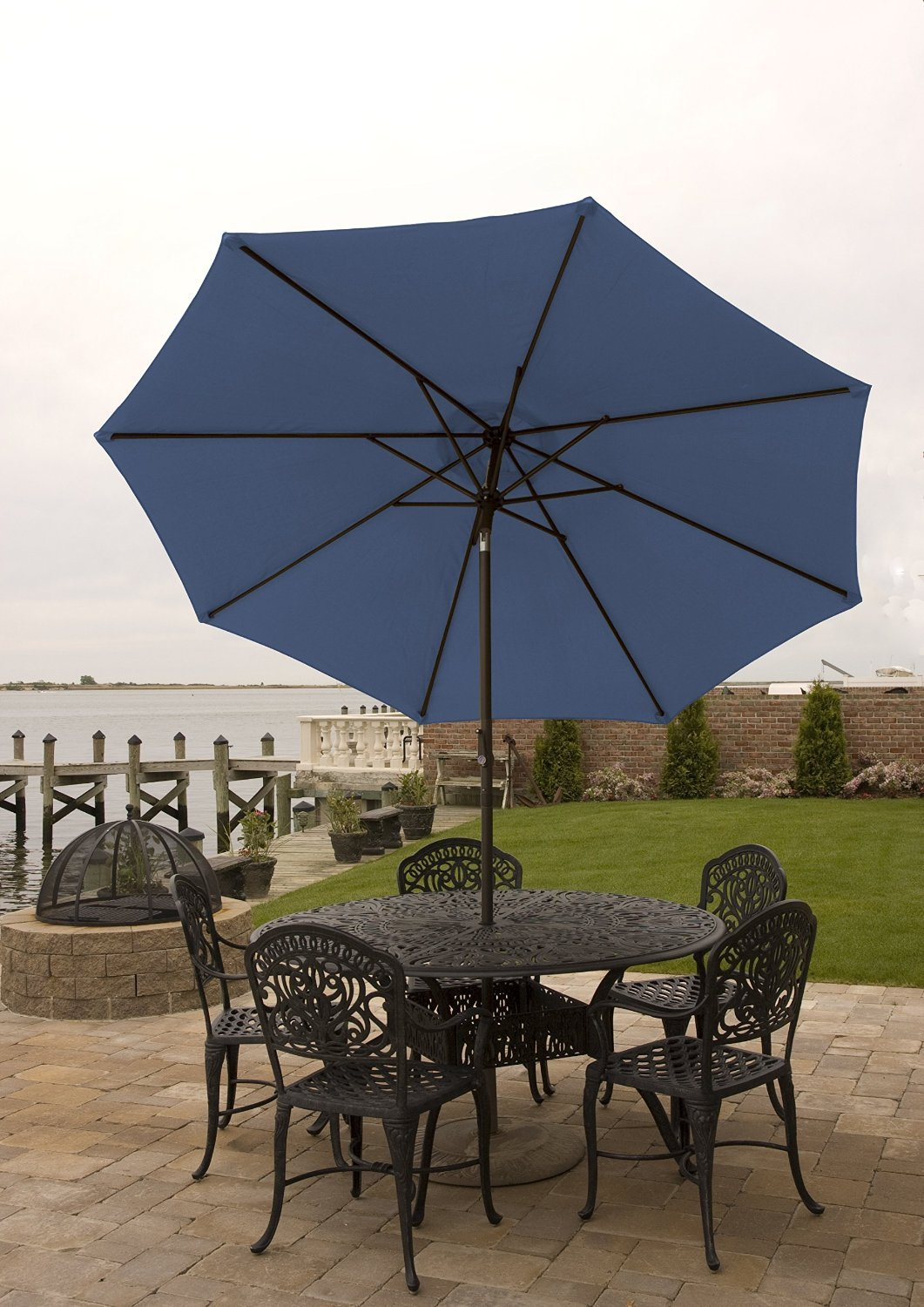 Superior Amazon.com : Patio Umbrella For Table 9 Ft With Aluminum Frame, Crank U0026 Tilt  For Shade In Various Colors Easy Opening And Closing Water Resistant ...