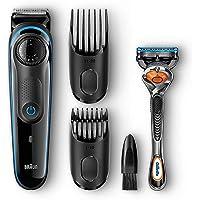 Braun BT3040 - Recortadora barba y cortapelos, negro/azul, con cuchillas afiladas de larga duración, incluye maquinilla Gillete Fusion5