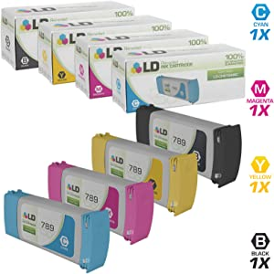 LD Remanufactured Ink Cartridge Replacement for HP 789 (Black, Cyan, Magenta, Yellow, 4-Pack)