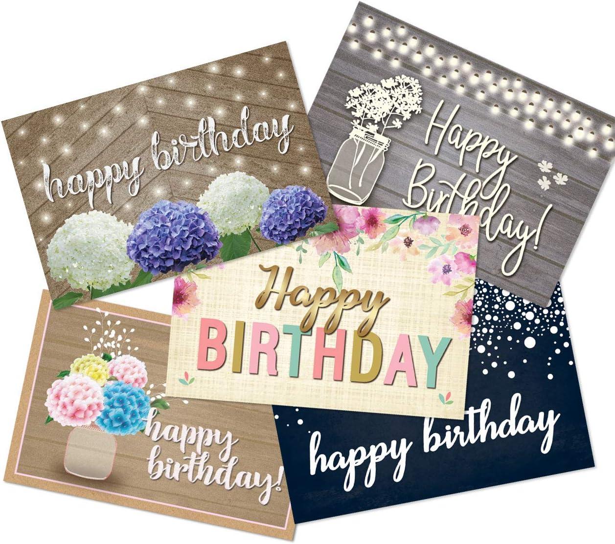 50 Happy Birthday Postcards - 5 Birthday Designs - 4