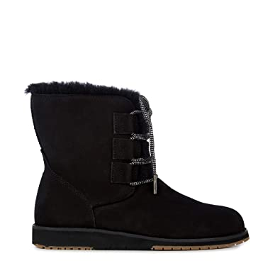 bdfbc6956af Emu Australia Womens Illawong Winter Real Sheepskin Boots in Black:  Amazon.co.uk: Shoes & Bags