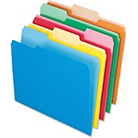 Pendaflex 1521/3ASST Pendaflex 2-Tone File Folders, 1/3 Cut, Top Tab, Letter, 4 Asst Colors, 100/Box (152 1/3 ASST)