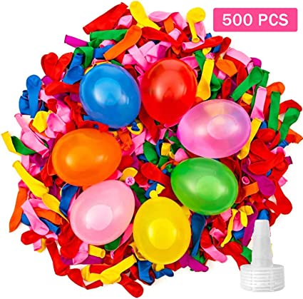 Summer Splash Fun For Kids Adults Swimming Pool Party Water Balloons 500 Pack Colorful Water Balloons For Decoration Water Bomb Fight Games