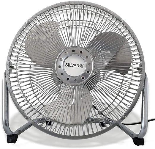 SILVANO Ventilador metalico aspas Metal 3 velocidades 9 23cm Alta Velocidad 38W: Amazon.es: Hogar