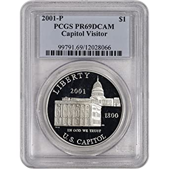 2001-P Capitol Visitor Center Silver Commemorative Dollar PR69DCAM PCGS Proof 69