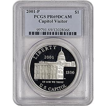 2001-P $1 U.S.Capitol Visitor Center Commemorative Silver Dollar Proof
