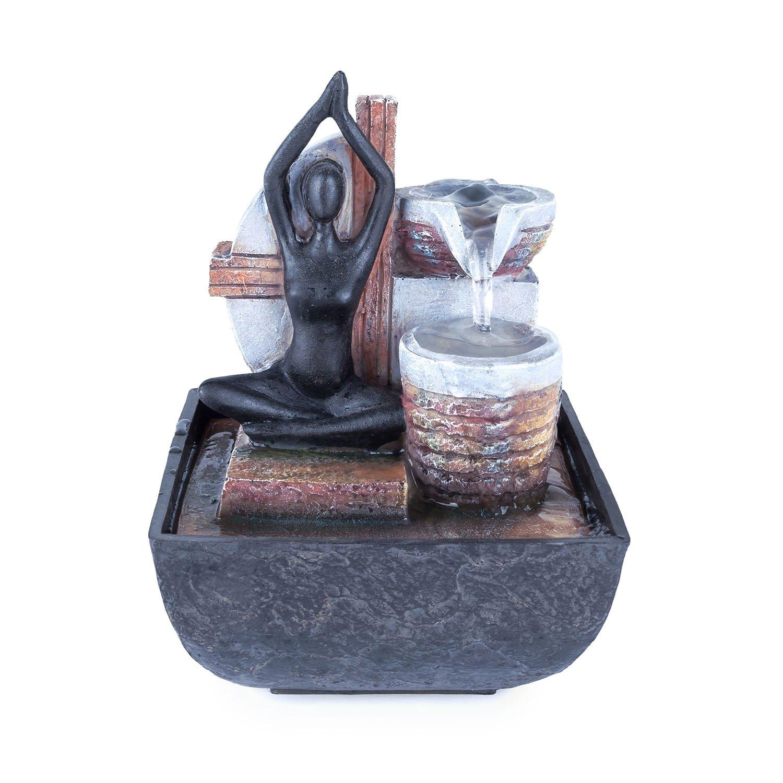 Pajoma - Fuente Yoga, H 18,5 cm: Amazon.es: Juguetes y juegos