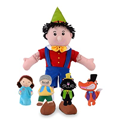 Fiesta Crafts Pinocchio Hand and Finger Puppet Set: Toys & Games