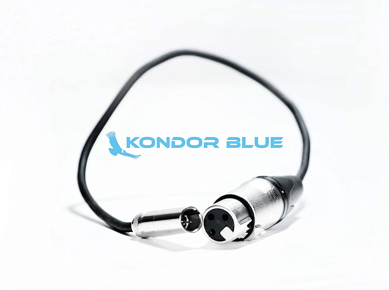 1 Paquet Kondor C/âble Audio Mini XLR m/âle vers XLR Femelle Noir 4K pour Appareil Photo 4K Bleu Pro 3 Broches XLR Adaptateur Microphones Mixeurs .