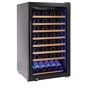 Wine Enthusiast Classic L 80 Bottle Wine Cellar - Freestanding Wine Refrigerator