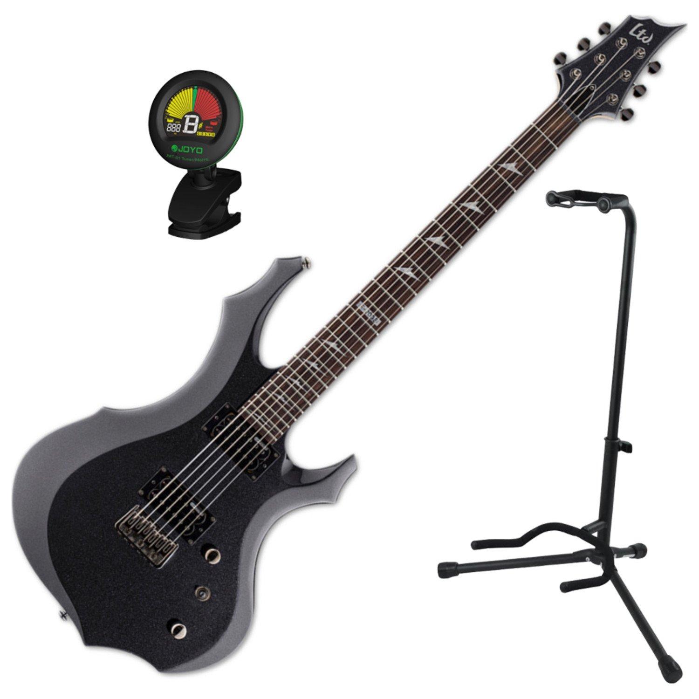 Esp Ltd F-200 barítono CHM guitarra eléctrica w/stand y ...