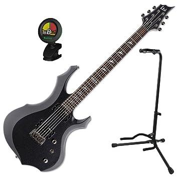 Esp Ltd F-200 barítono CHM guitarra eléctrica w/stand y sintonizador: Amazon.es: Instrumentos musicales