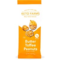 Butter Toffee Peanuts by Keto Farms, Keto Candy Snacks (1g Net Carb) 1 Ounce, 6 Count | Keto Friendly Desserts - No…