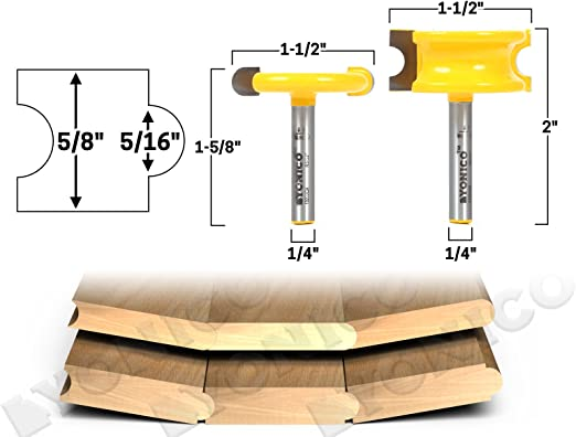 1//2-Inch Bore Roman Carbide DC2310 Tongue and Groove Set