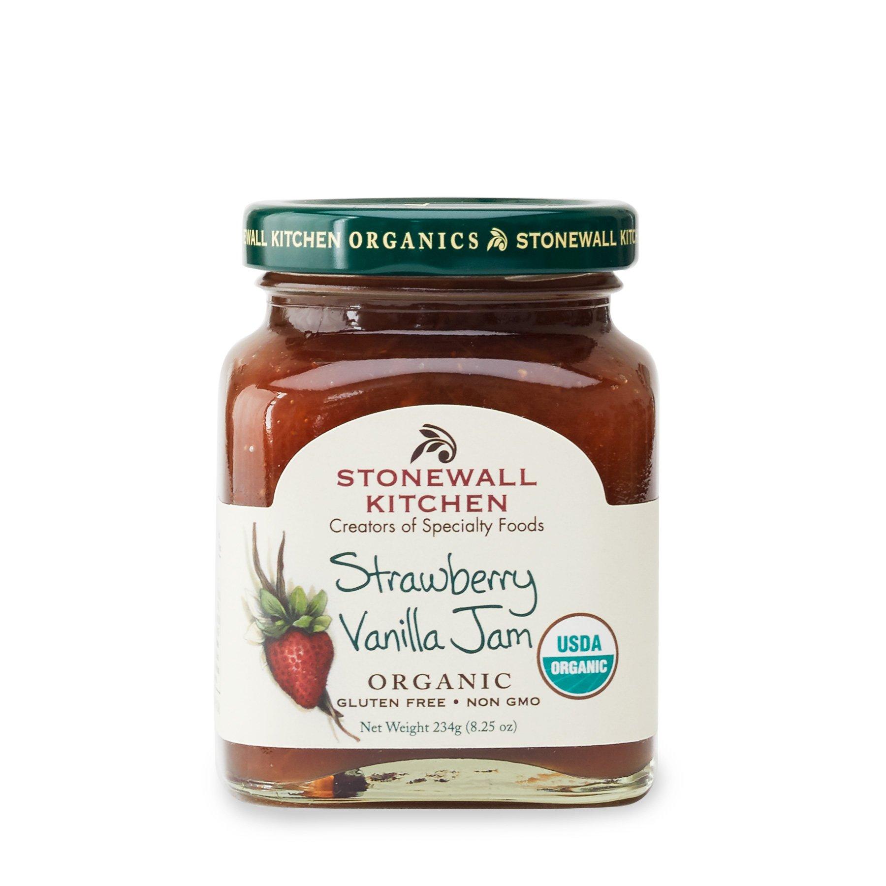 Stonewall Kitchen Organic Strawberry Vanilla Jam, 8.25 Ounce