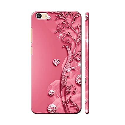 best service 41513 c598d Clapcart Vivo y69 Designer Printed Back Cover for VIVO Y69 / Vivo y 69 -  Pink Color (Heart Design For Girls)