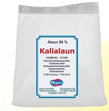 Kali alumbre alumbre 1 kg Clip Bolsa de aluminio Sulfato de Potasio dodeca hydrat Natural