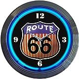 ROUTE66 ルート66  レトロ ネオンクロック壁掛時計 並行輸入