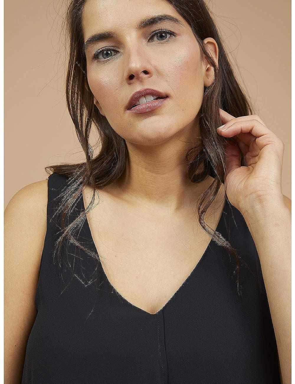 Fiorella Rubino Top con sovrapposizioni Italian Plus Size