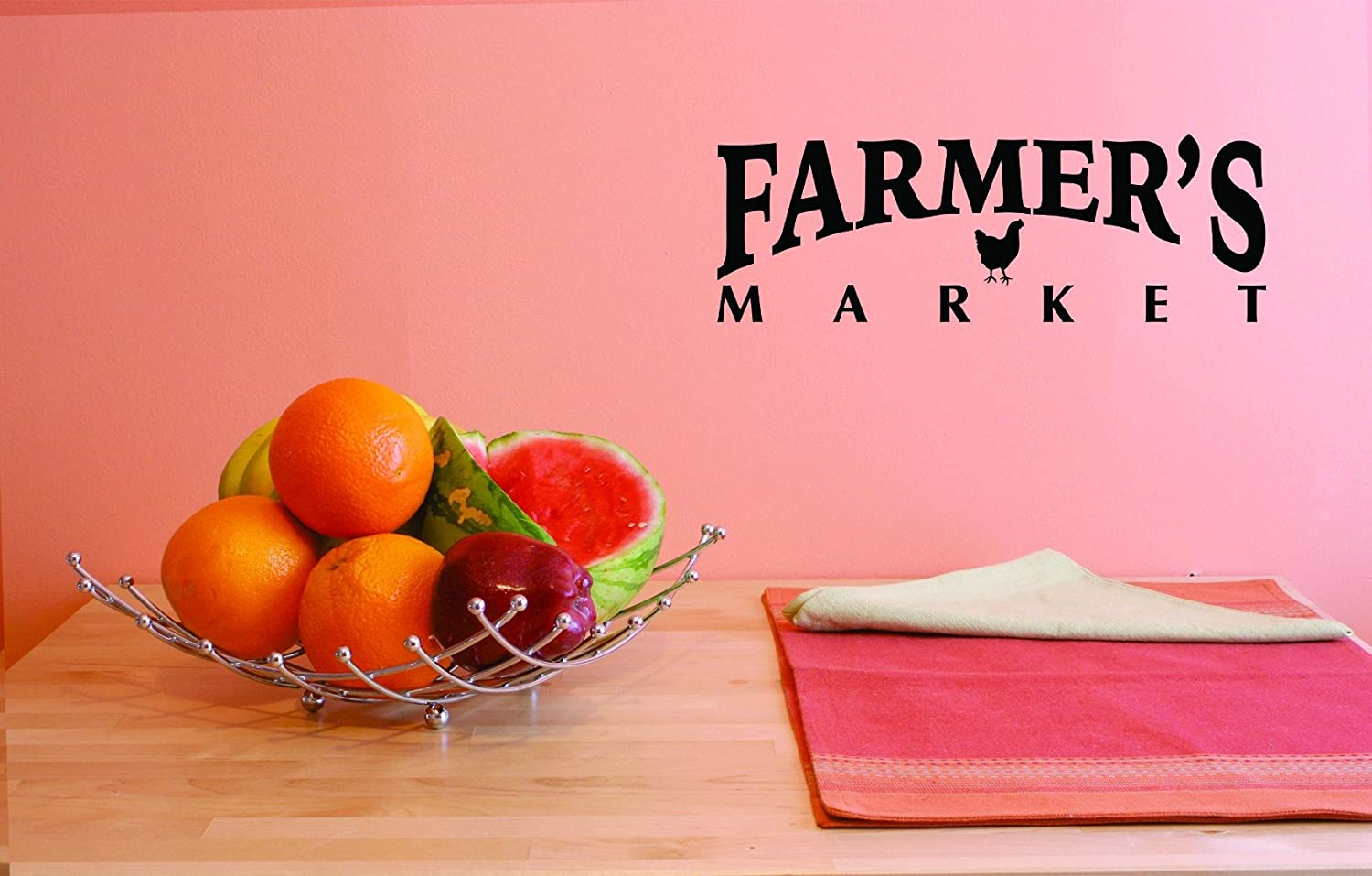 Design with Vinyl JER 1766 1 1 Hot New Decals Farmers Market Wall Art Size 10 inches x 20 inches Color 10 x 20 Black