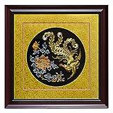 ChinaFurnitureOnline Golden Phoenix Silk Embroidery Frame, Multicolor