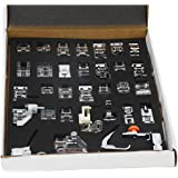 Professional Domestic 42 PCS Sewing Foot Presser Feet Set for Singer, Brother, Janome, Kenmore, Babylock, Elna,Toyota, New Home, Simplicity and Low Shank Sewing Machines (32 PCS)