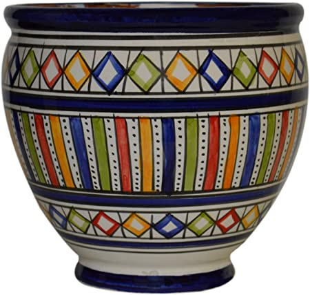 Moroccan Hanging Pot Potted Garden Flower container Ceramic With Drainage Hole