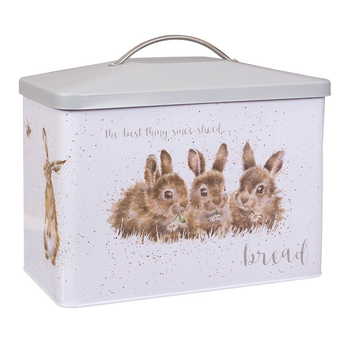 Wrendale Designs Bread Bin (TN021) - 'Daisy Chain' Bunnies and 'The Afternoon Nap' Fox