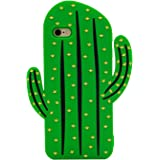 iPhone 6S Plus Case, MC Fashion Cute 3D Vivid Cactus Prickly Pear Plant Soft and Protective Silicone Rubber Phone Case for iPhone 6S Plus (2015) & iPhone 6 Plus (2014) (Cactus)