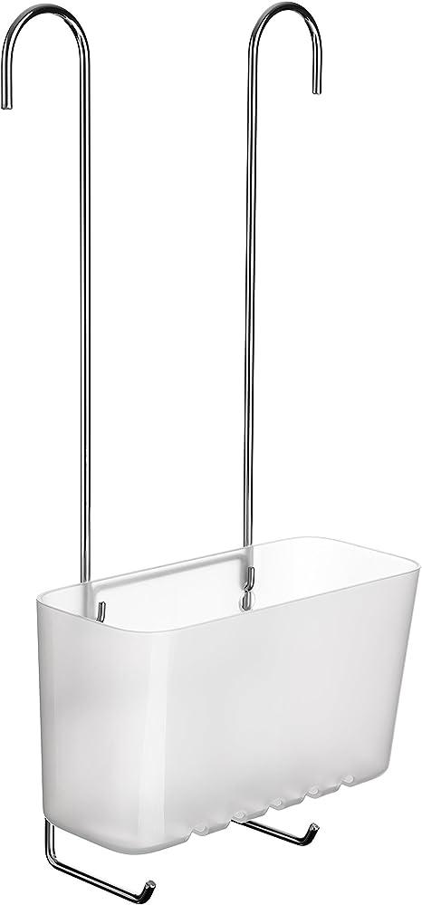 Tatay Standard Single Cesta organizadora de Ducha o bañera Ajustable a Todo Tipo de grifos plástico polipropiel, Blanco, 20.5 x 11 x 41.5 cm: Amazon.es: Hogar