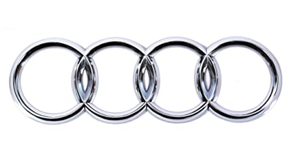 Amazoncom Genuine Rear Trunk Chrome Badge Rings Emblem Audi A S - Audi emblem