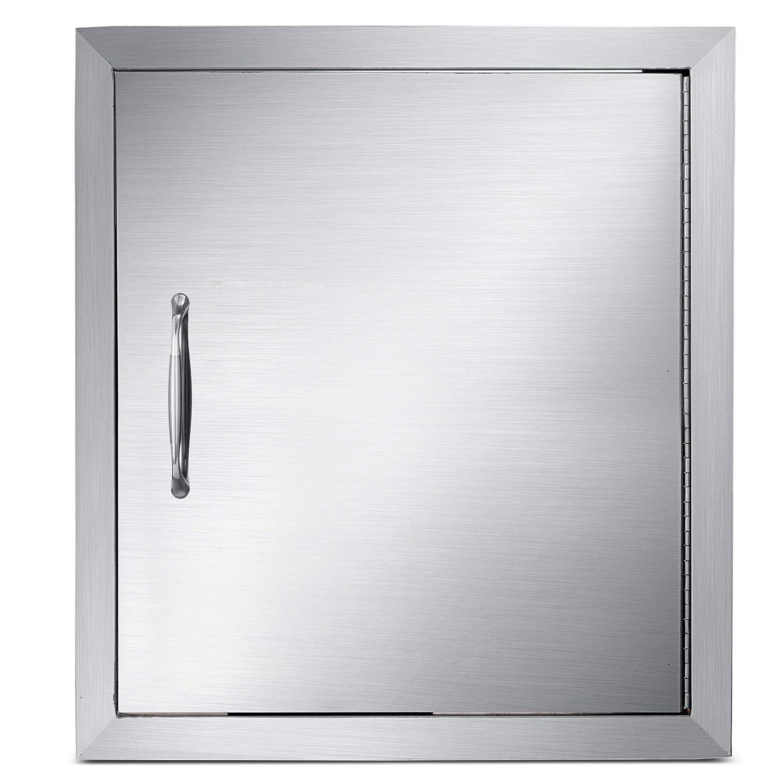 KITGARN BBQ Access Door 18 x 20 inch Stainless Steel BBQ Single Walled Door Outdoor Kitchen Island Doors for Outdoor Kitchen