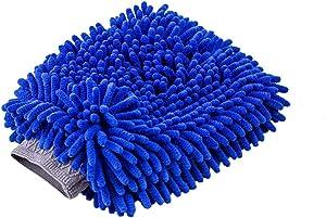 Relentless Drive Ultimate Car Wash Mitt (Large) Premium Chenille Microfiber Lint and Scratch-Free Sponge Glove